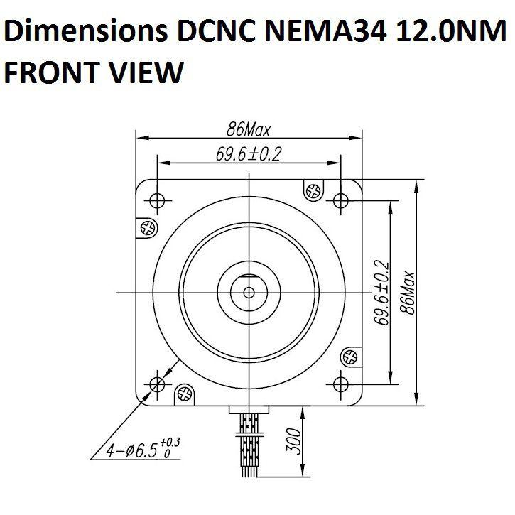 stepper motor dcncnema34120nm double shaft