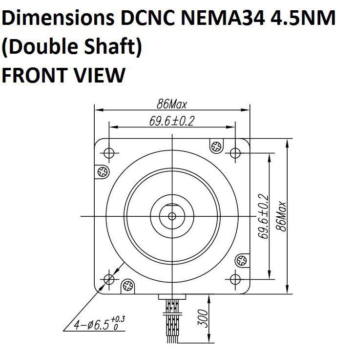 Stepper Motor Dcnc Nema34 4 5nm Double Shaft Damencnc B V