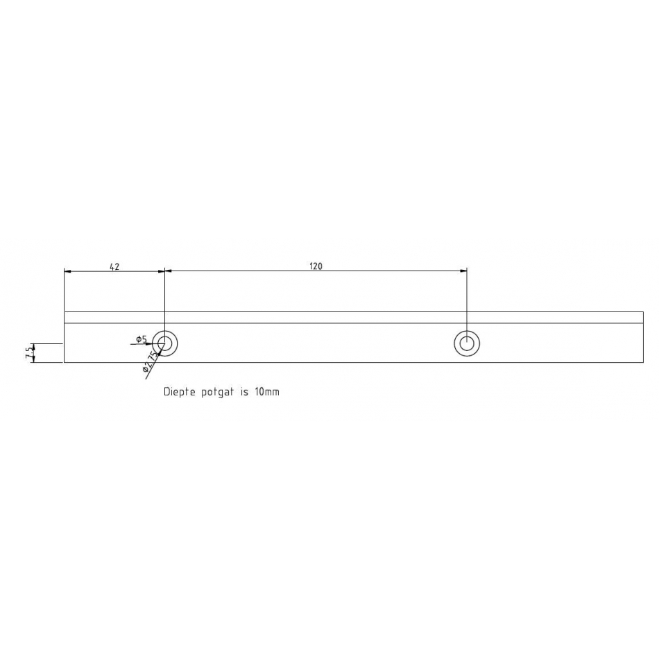 straight rack module 2 q10 with mounting holes pricemeter