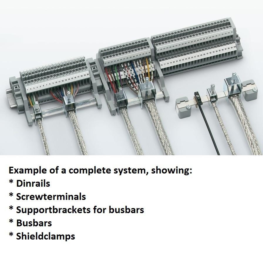 support bracket absk 65 for busbars