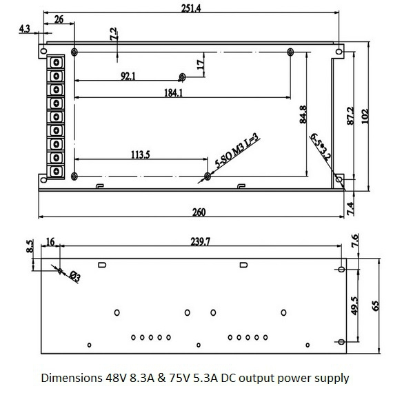 switching powersupply 400w 48v 83a dc output