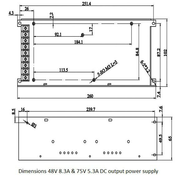 switching powersupply 400w 75v 53a dc output