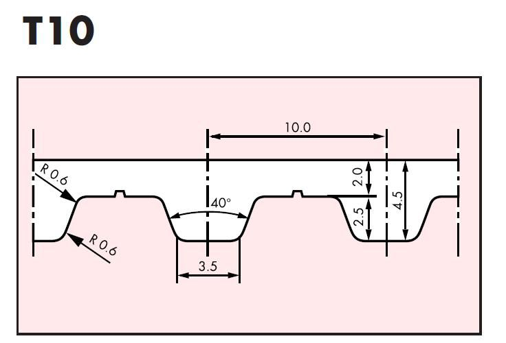 t10 belt 750t1016 beltlength 750mm