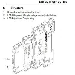 timer relay off delay etdbl1toffcc 300spt 2901486