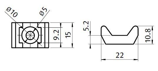 universal cable binding block