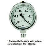 """Vacuum meter 100mm -600-0 mbar G 1/2"""""""
