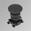 w0351000017 black mushroomhead push button 40