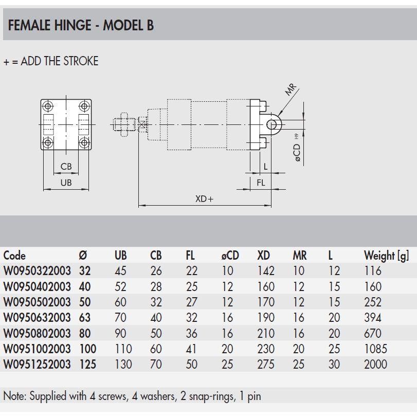 w0950632003 female hinge model b 063