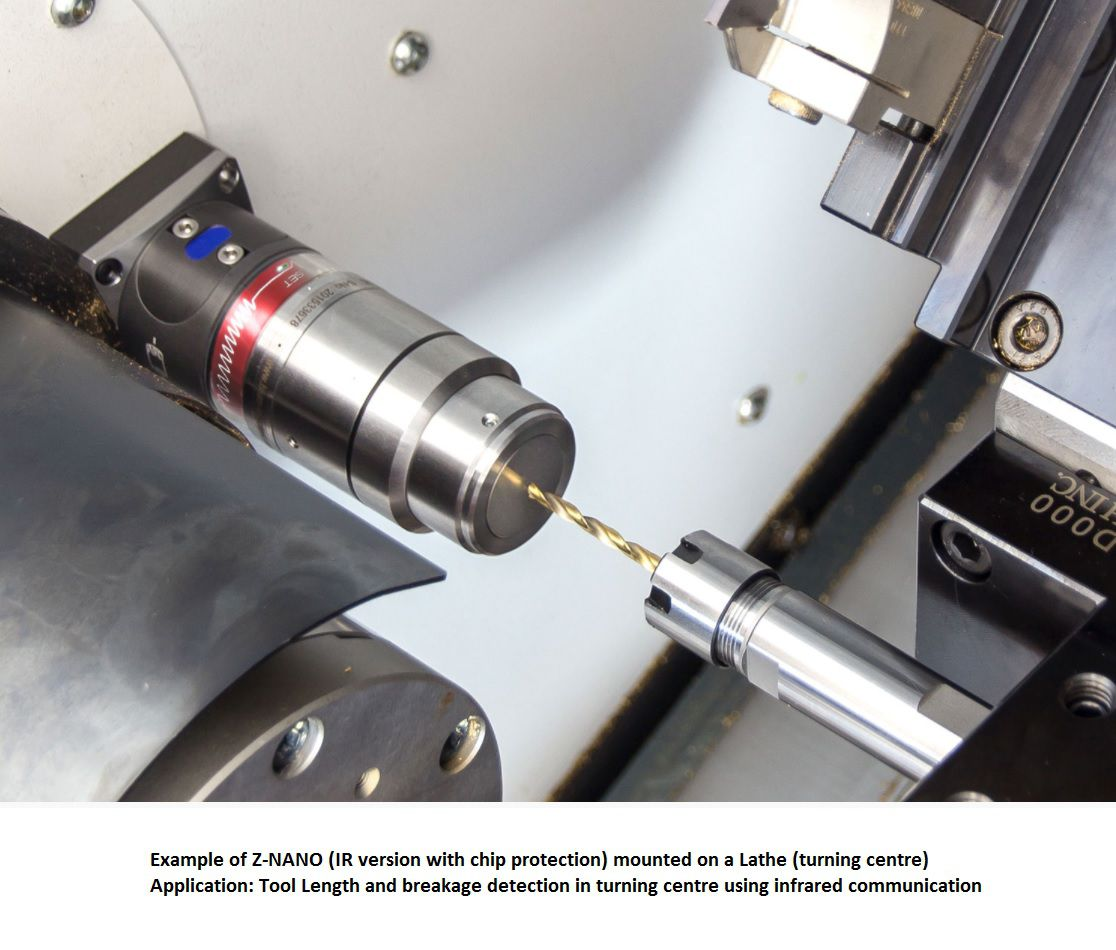 znano ir toolsetter including cleaning nozzle